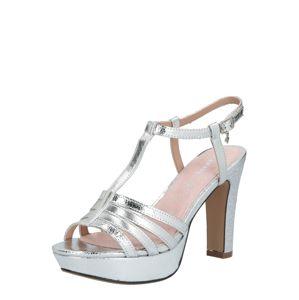 MARIAMARE Páskové sandály 'LEIA'  stříbrná