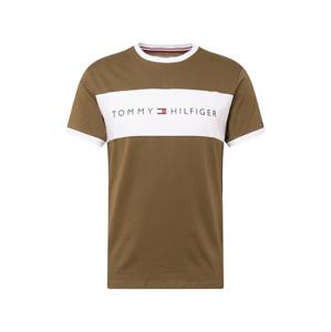Tommy Hilfiger Underwear Tričko  olivová / bílá
