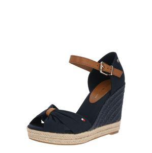 TOMMY HILFIGER Páskové sandály  tmavě modrá