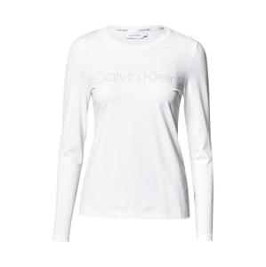 Calvin Klein Tričko  bílá / stříbrná