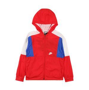 Nike Sportswear Přechodná bunda  královská modrá / červená / přírodní bílá