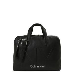 Calvin Klein Taška na notebook 'NY SHAPED LAPTOP BAG'  černá