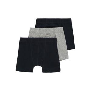 NAME IT Spodní prádlo 'TIGHTS 3P SOLID GREY'  šedý melír / černá