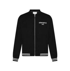 AÈROPOSTALE Přechodná bunda  černá / bílá