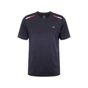 Calvin Klein Performance Funkční tričko  černá / oranžově červená / světle šedá
