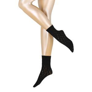FALKE Ponožky 'Sweet Flor. SO'  černá
