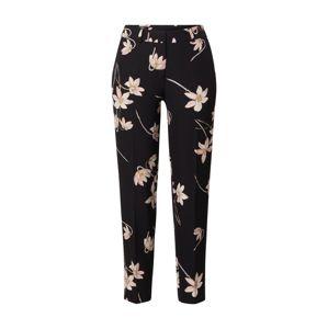 s.Oliver BLACK LABEL Kalhoty  černá / růže / bílá / oranžová