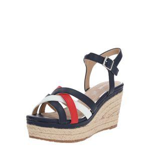 MARIAMARE Páskové sandály 'NEBET'  béžová / tmavě modrá / červená
