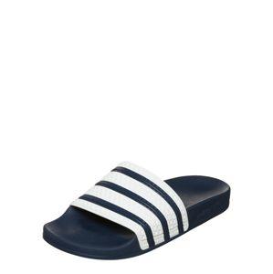 ADIDAS ORIGINALS Plážová/koupací obuv 'Adilette'  modrá / bílá