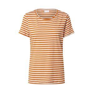 VILA Tričko 'VISUS'  oranžová / bílá