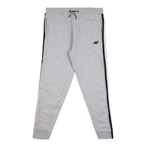 4F Sportovní kalhoty  šedý melír / černá / bílá / aqua modrá / žlutá