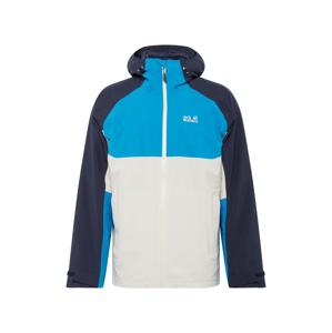 JACK WOLFSKIN Sportovní bunda 'MOUNT ISA'  námořnická modř / aqua modrá / bílá