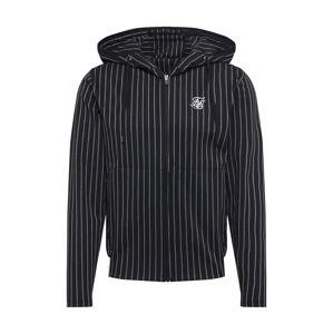 SikSilk Mikina s kapucí  bílá / černá