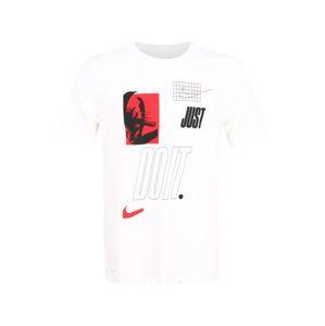 NIKE Funkční tričko  černá / bílá / červená