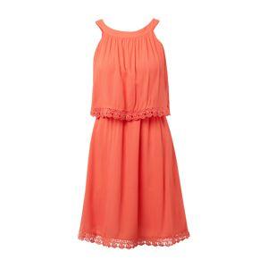 TOM TAILOR DENIM Letní šaty 'mini dress crochet lace'  lososová