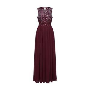 LACE & BEADS Společenské šaty 'Isla Maxi'  burgundská červeň