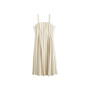MANGO Letní šaty 'Emilia'  béžová / přírodní bílá