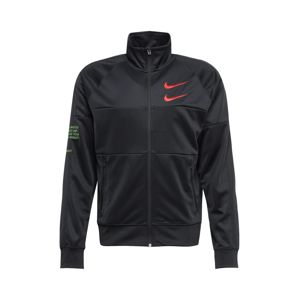 Nike Sportswear Mikina s kapucí  oranžově červená / světle zelená / černá