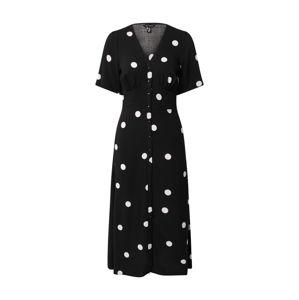 NEW LOOK Košilové šaty 'RITA'  černá / bílá