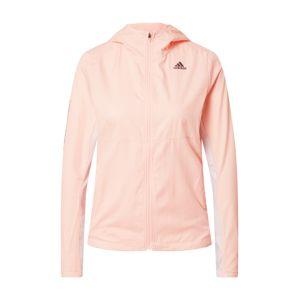 ADIDAS PERFORMANCE Sportovní bunda 'Own the Run'  pastelově růžová / bílá