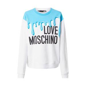 Love Moschino Mikina 'W630634E2139'  modrá / bílá / černá