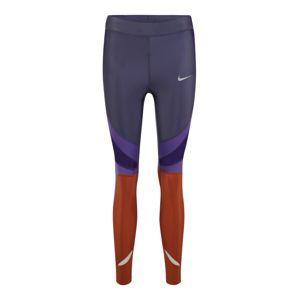 NIKE Sportovní kalhoty 'W NK PWR SPEED TGHT 7_8 CL'  písková / fialová