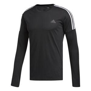 ADIDAS PERFORMANCE Funkční tričko 'Running 3-Streifen'  černá / bílá