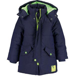 BLUE SEVEN Kabát  tmavě modrá / svítivě zelená