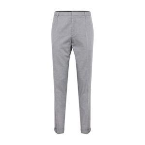 HUGO Kalhoty se sklady v pase 'Gabriel'  světle šedá