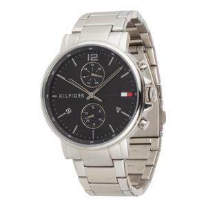 TOMMY HILFIGER Analogové hodinky 'Daniel'  černá / stříbrná