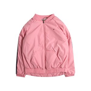 TOMMY HILFIGER Přechodná bunda 'ESSENTIAL TOMMY TAPE JACKET'  pink