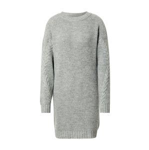 Noisy may Úpletové šaty 'Jimma'  šedá