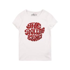 KIDS ONLY Tričko 'ROLLING LIFE'  bílá / vínově červená