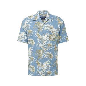 JACK & JONES Košile 'Resort'  námořnická modř / bílá / zelená / hořčicová