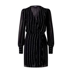 The Kooples Košilové šaty 'ROBE'  černá / bílá