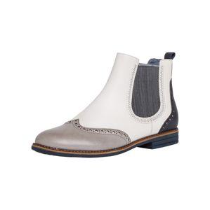 TAMARIS Chelsea boty  noční modrá / šedá / bílá