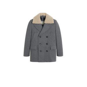 MANGO MAN Přechodný kabát 'Milano'  šedý melír