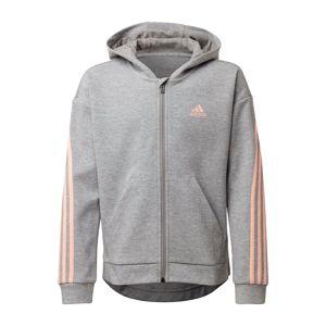 ADIDAS PERFORMANCE Sportovní svetr  pastelově oranžová / šedý melír