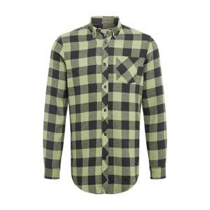 Redefined Rebel Košile 'Hector'  pastelově zelená / grafitová / šedý melír