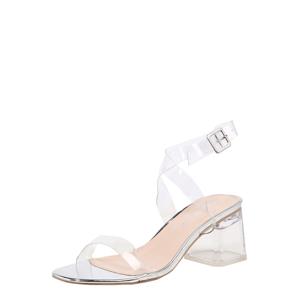 Public Desire Páskové sandály 'Afternoon'  průhledná / stříbrná