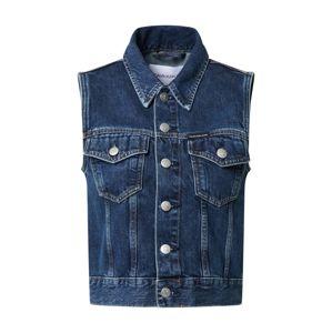 Calvin Klein Jeans Vesta  modrá džínovina