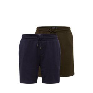 BURTON MENSWEAR LONDON Kalhoty  khaki / námořnická modř