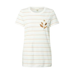 ESPRIT Tričko 'Embro'  bílá / hnědá / šedá / modrá