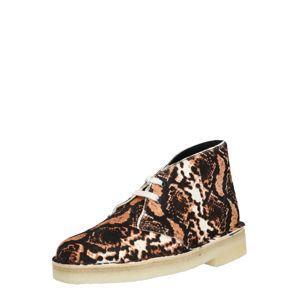 Clarks Originals Šněrovací boty 'Desert'  hnědá / koňaková / bílá