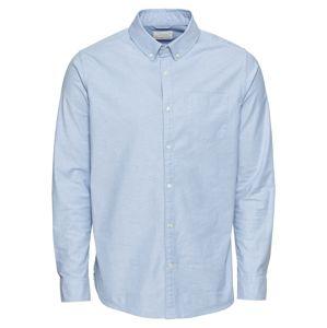 KnowledgeCotton Apparel Košile 'Strethced oxford shirt'  světlemodrá