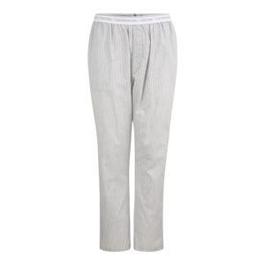 Calvin Klein Underwear Pyžamové kalhoty  šedá / bílá