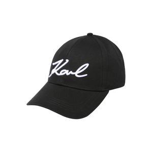 Karl Lagerfeld Čepice 'Signature'  černá / bílá