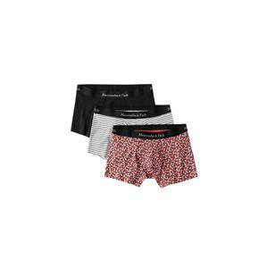 Abercrombie & Fitch Boxerky  červená / bílá / černá