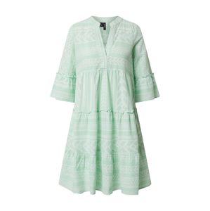 VERO MODA Letní šaty 'VMDICTHE 3/4 TUNIC EXP GA'  bílá / zelená