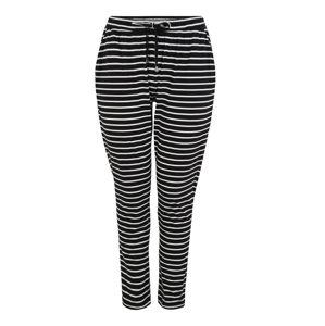 Zizzi Kalhoty 'MINA'  černá / bílá